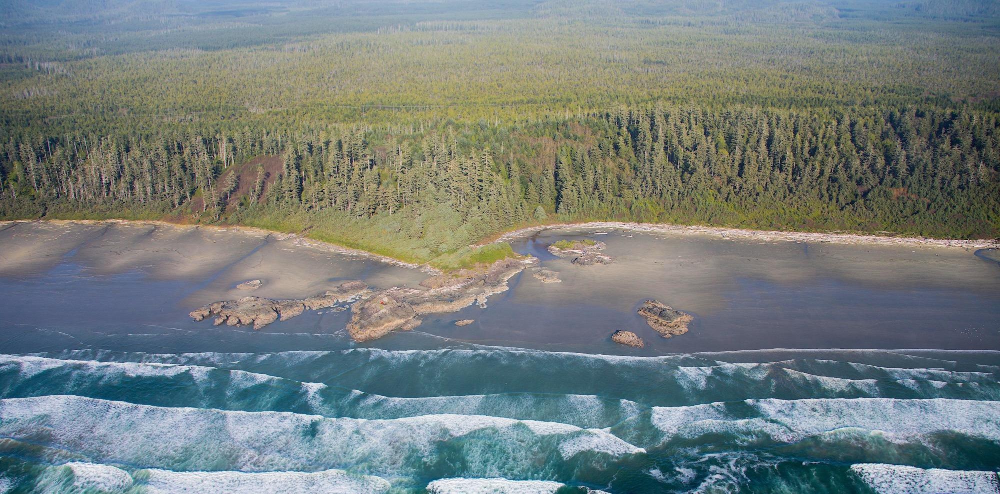 LONG BEACH TOFINO aerial