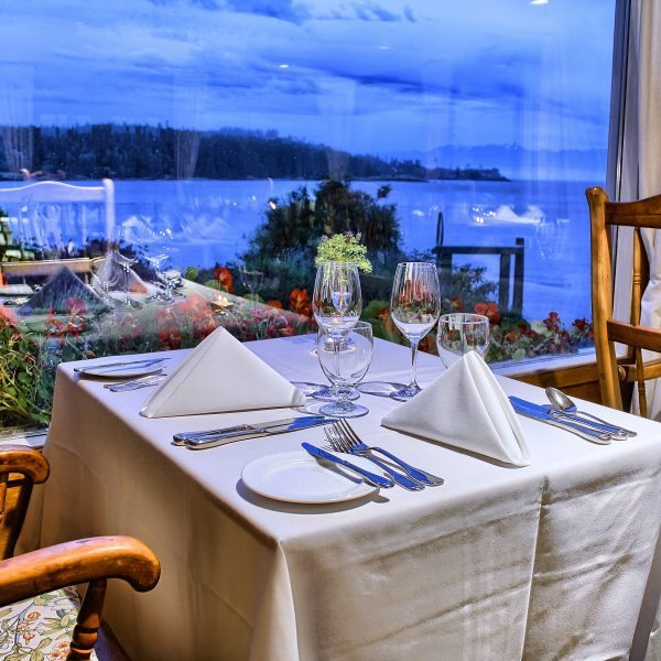 sooke harbour house dining view